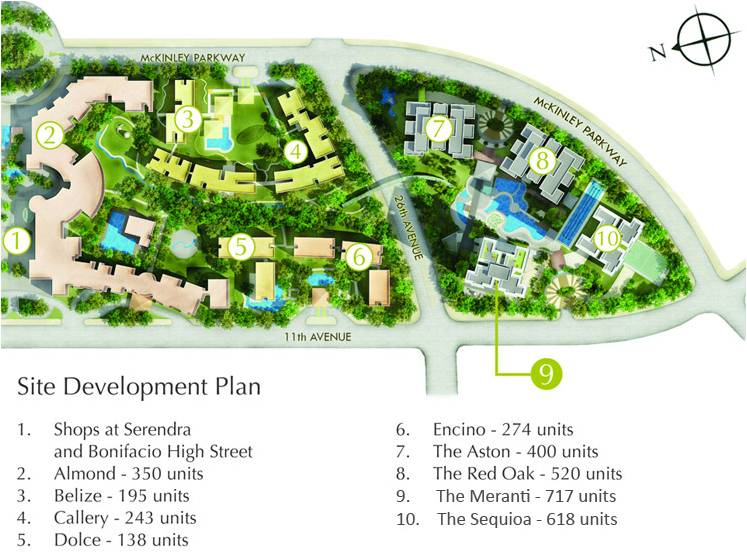 Site Map of Two Serendra. Check out Belize on the map