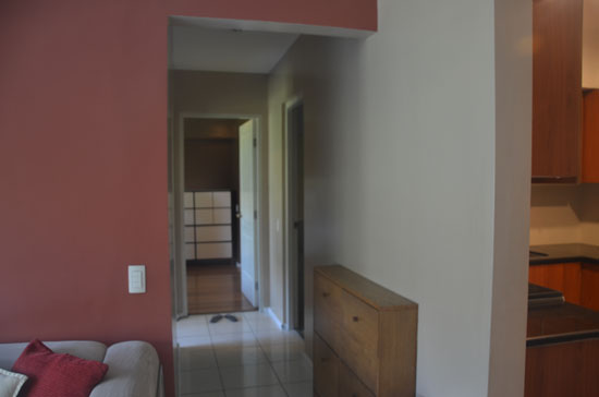 Corridor leading to the  two bedrooms